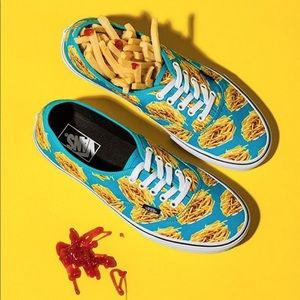 Vans men's sneaker size 12 French fries shoes